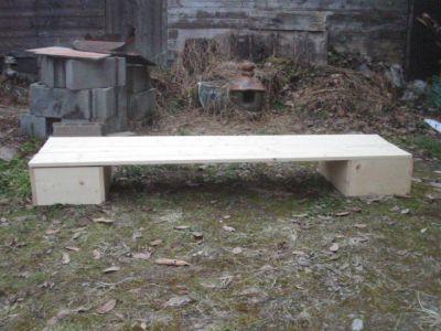 簡易棚の一段組み