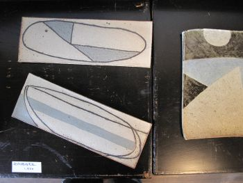 Sigeru の幾何柄長皿