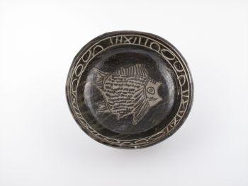 Sigeru の8寸黒魚紋鉢