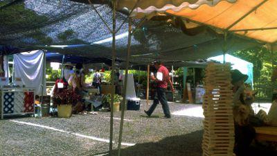 【写真】オーガニック & つながるマーケット・しが、会場の様子